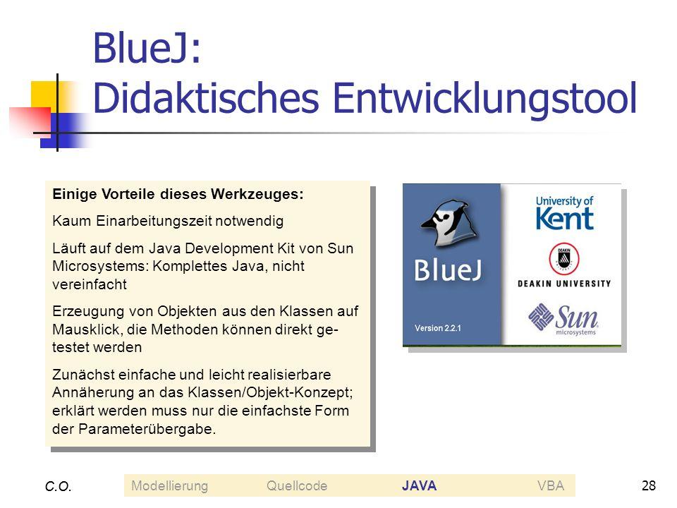 BlueJ: Didaktisches Entwicklungstool