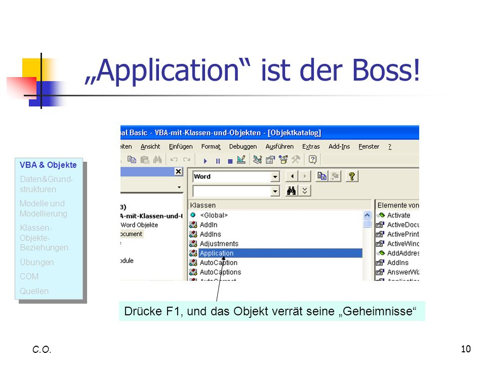 """Application ist der Boss!"