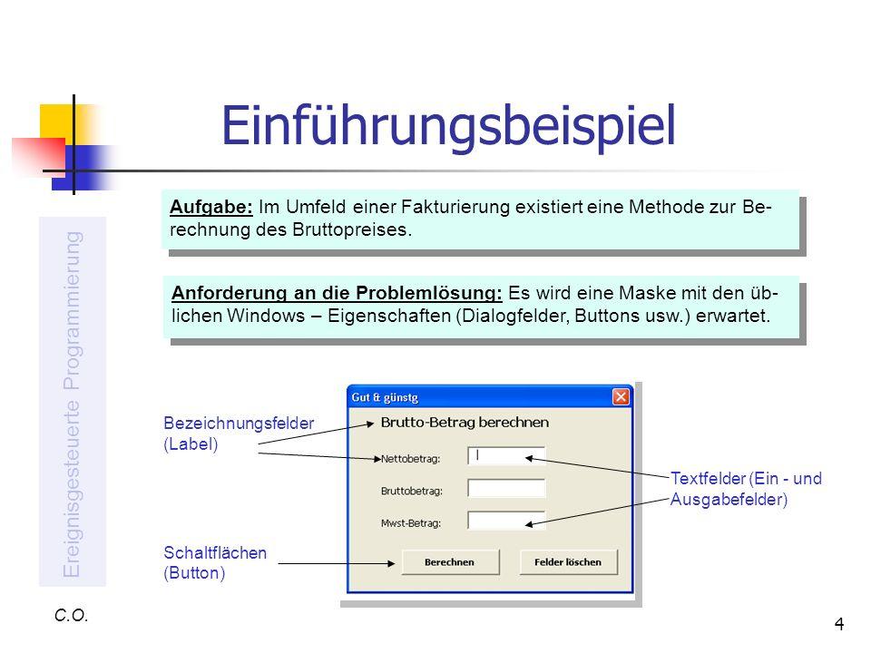Anforderung An Rechnung : ereignisgesteuerte programmierung mit vba ppt video online herunterladen ~ Themetempest.com Abrechnung