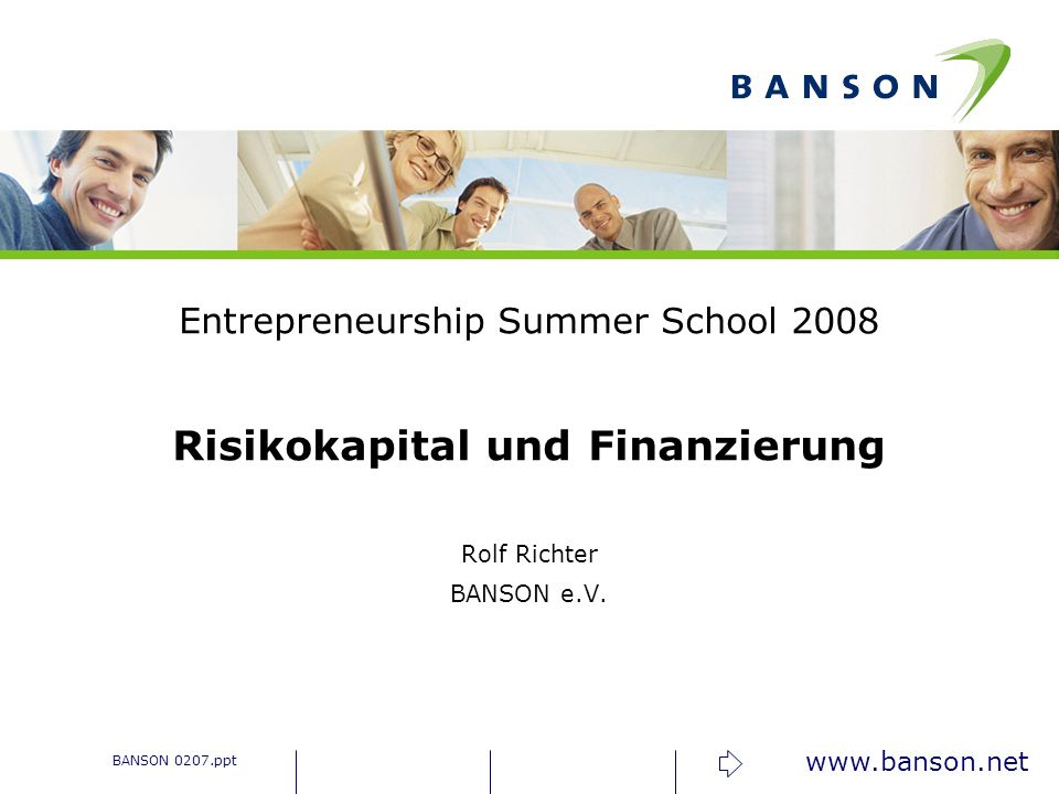 Risikokapital und Finanzierung