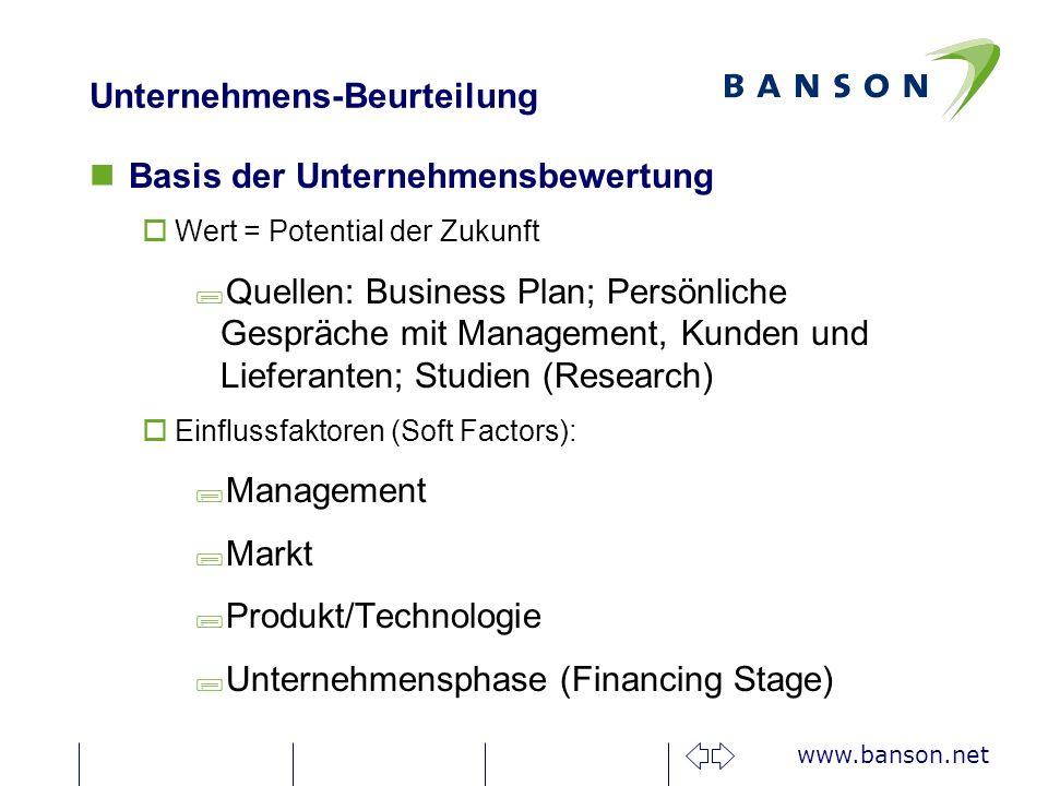 Unternehmens-Beurteilung