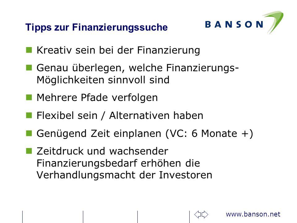 Tipps zur Finanzierungssuche