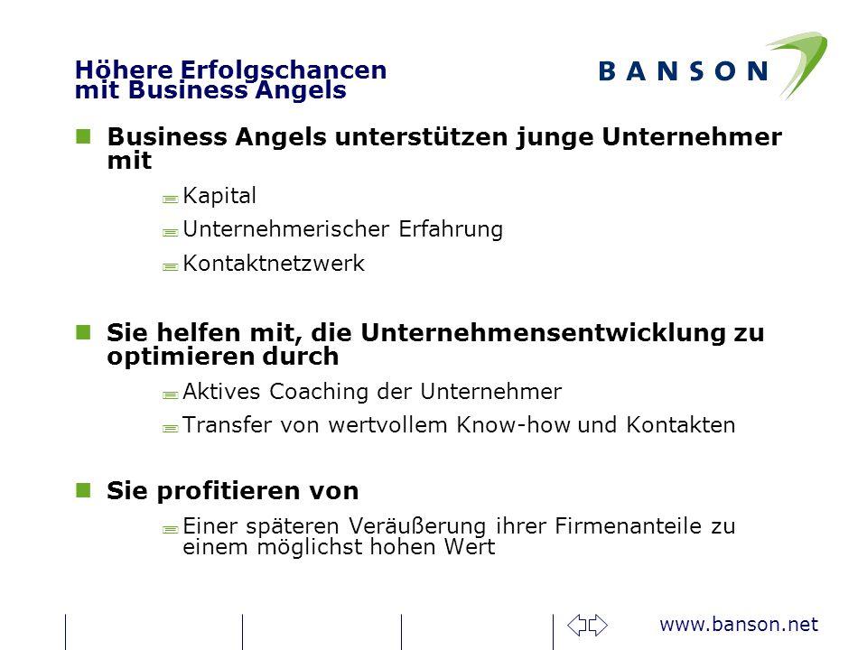 Höhere Erfolgschancen mit Business Angels
