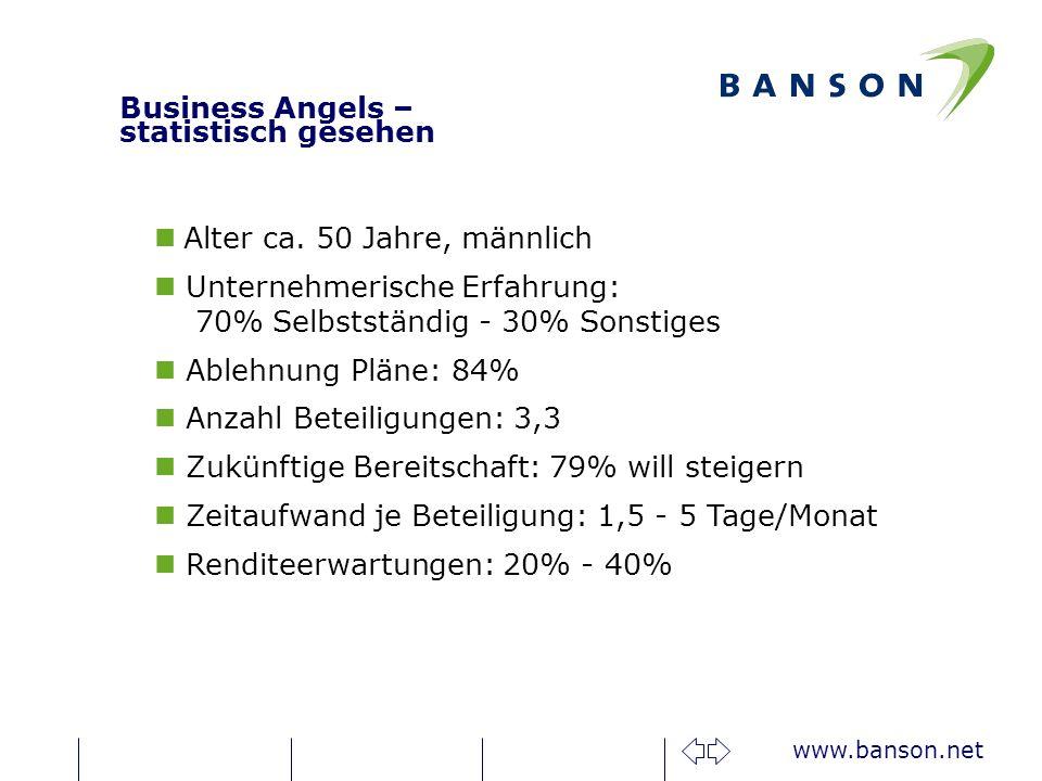 Business Angels – statistisch gesehen