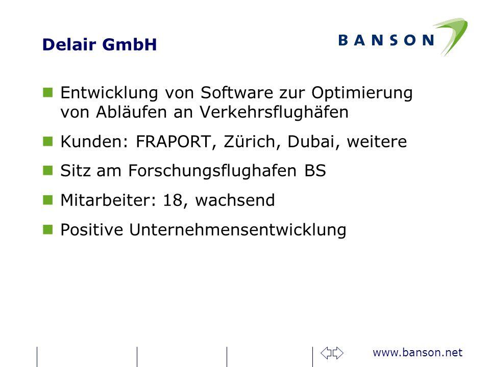 Delair GmbH Entwicklung von Software zur Optimierung von Abläufen an Verkehrsflughäfen. Kunden: FRAPORT, Zürich, Dubai, weitere.