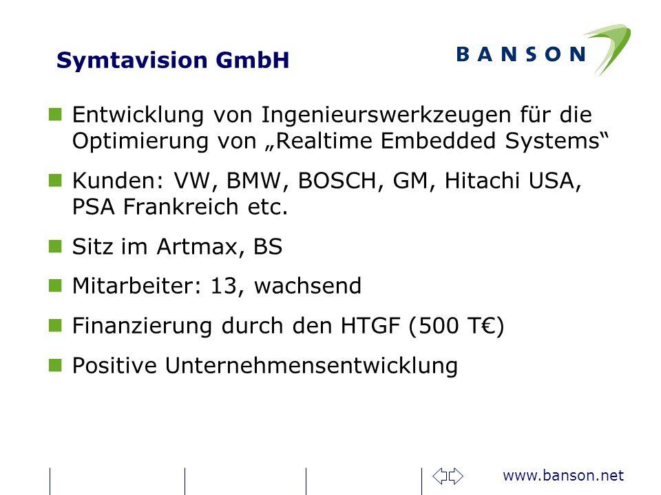 """Symtavision GmbH Entwicklung von Ingenieurswerkzeugen für die Optimierung von """"Realtime Embedded Systems"""