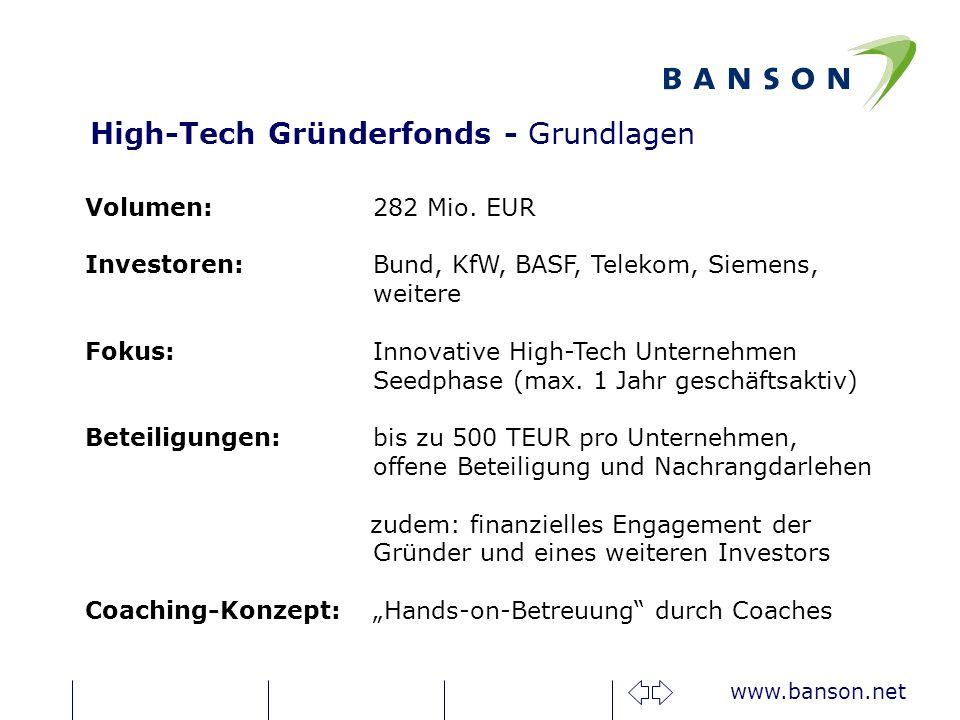 High-Tech Gründerfonds - Grundlagen