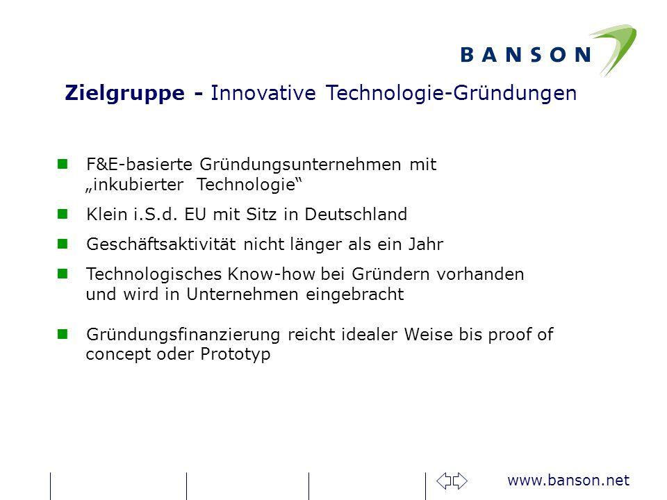 Zielgruppe - Innovative Technologie-Gründungen