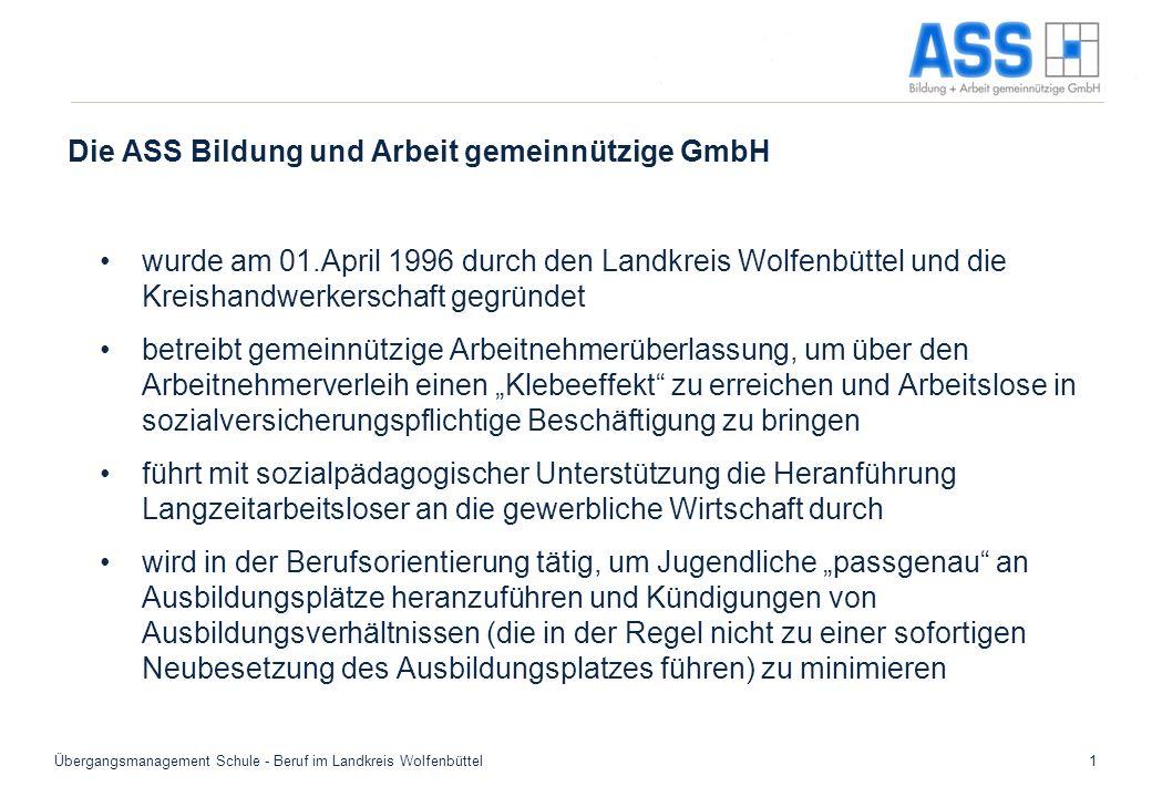 Die ASS Bildung und Arbeit gemeinnützige GmbH