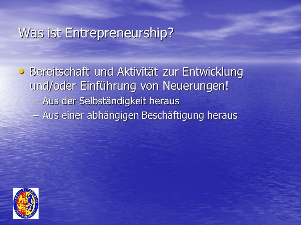 Was ist Entrepreneurship