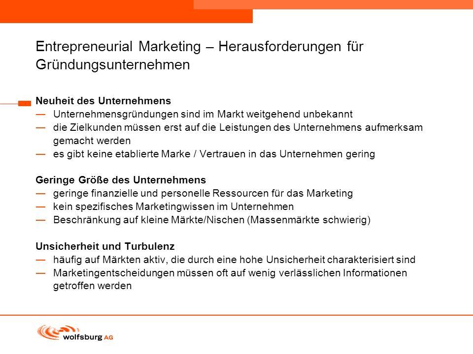 Entrepreneurial Marketing – Herausforderungen für Gründungsunternehmen