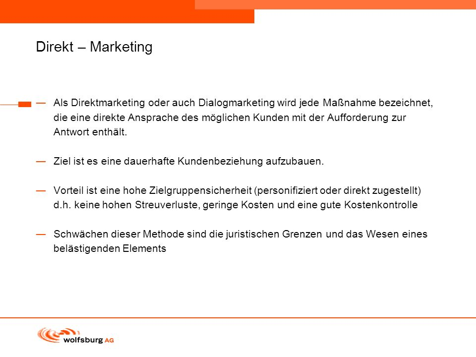 Direkt – Marketing
