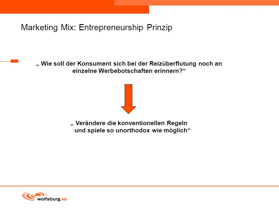Marketing Mix: Entrepreneurship Prinzip