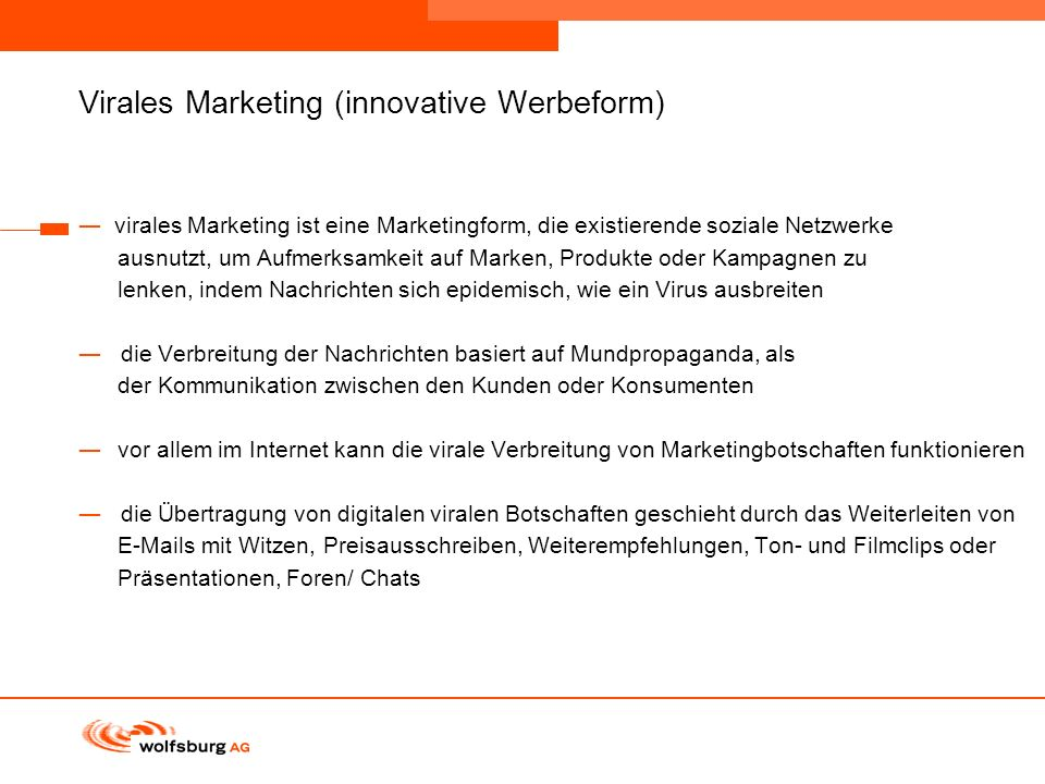 Virales Marketing (innovative Werbeform)