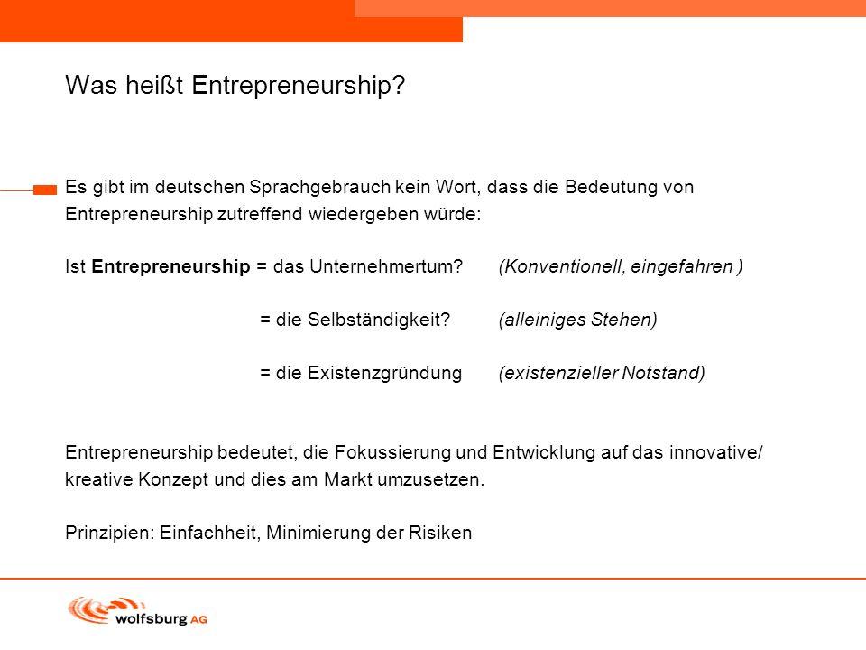 Was heißt Entrepreneurship