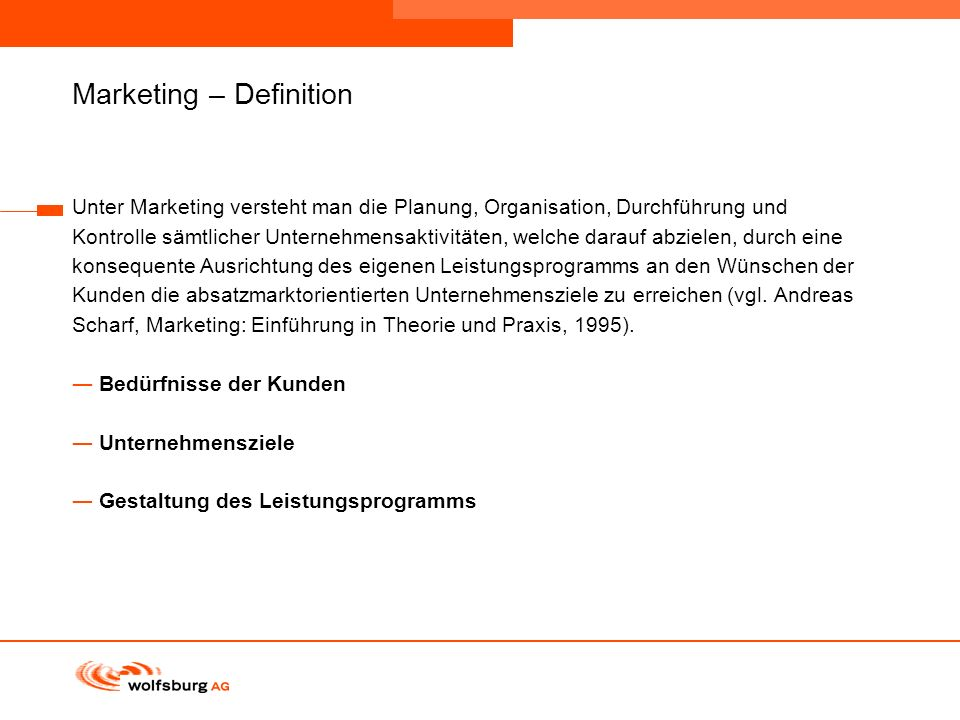 Marketing – Definition