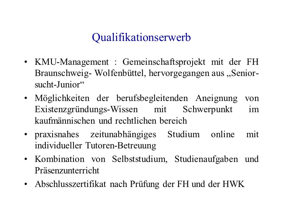 Qualifikationserwerb
