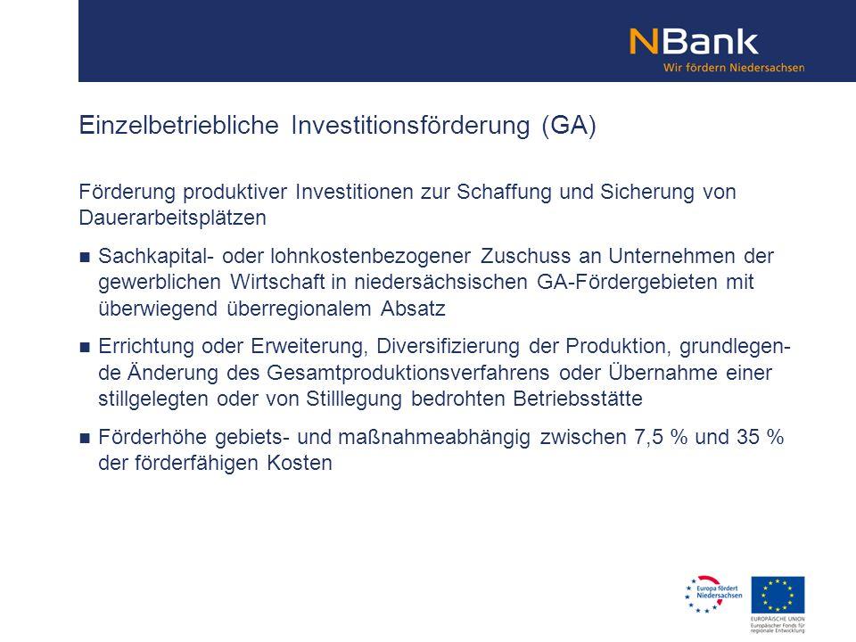 Einzelbetriebliche Investitionsförderung (GA)