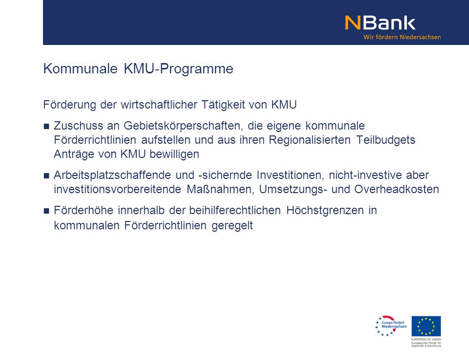 Kommunale KMU-Programme