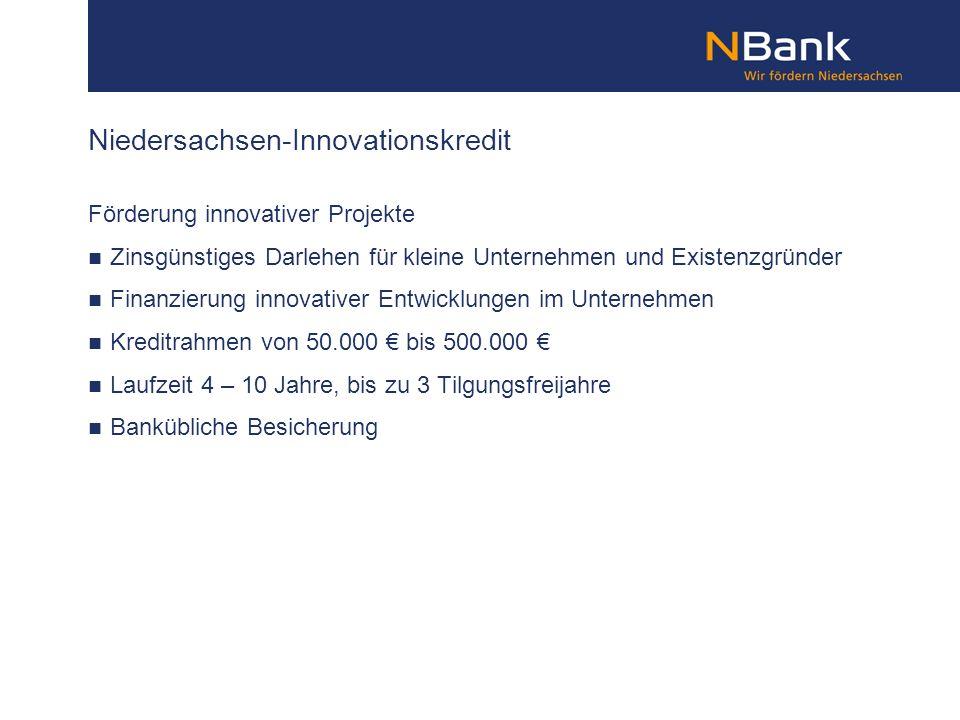 Niedersachsen-Innovationskredit