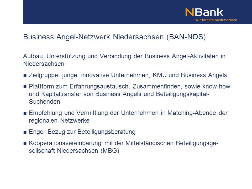 Business Angel-Netzwerk Niedersachsen (BAN-NDS)