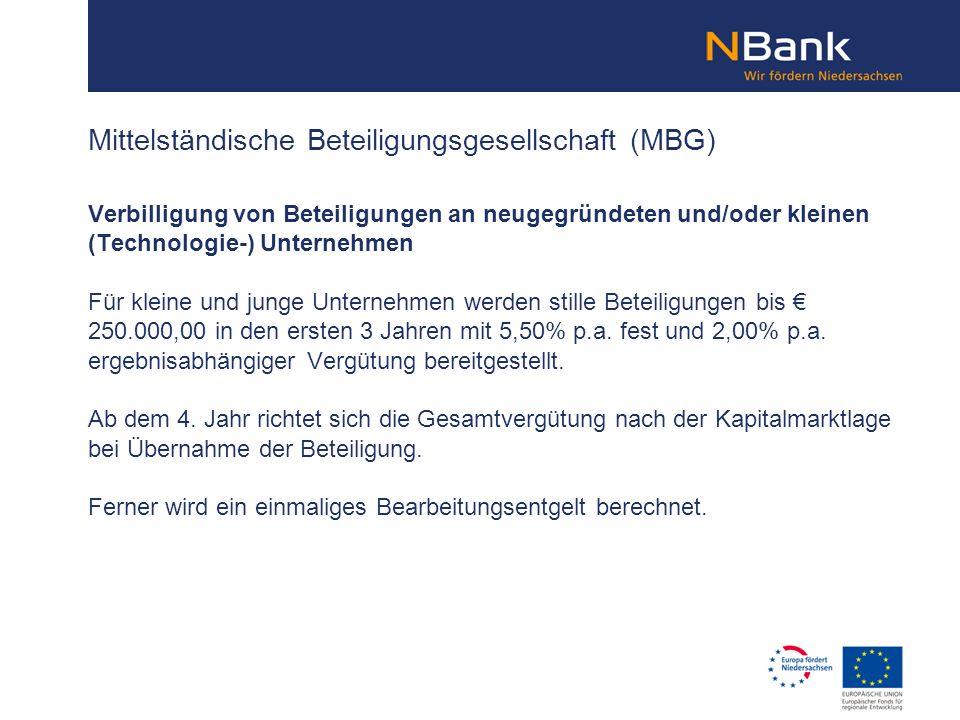 Mittelständische Beteiligungsgesellschaft (MBG)