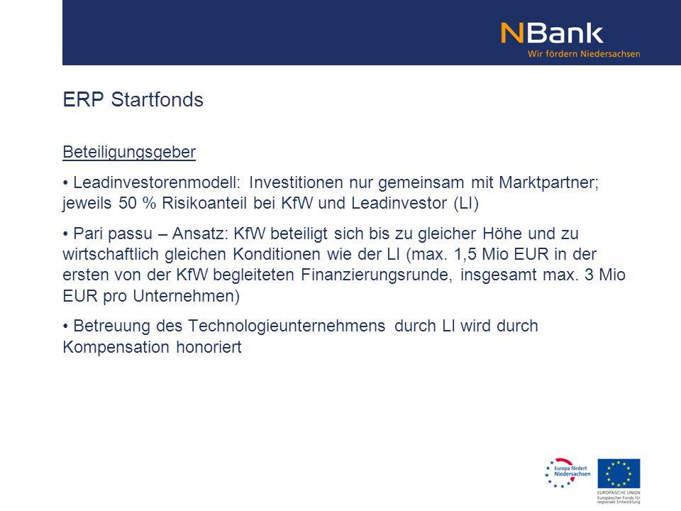ERP Startfonds Beteiligungsgeber