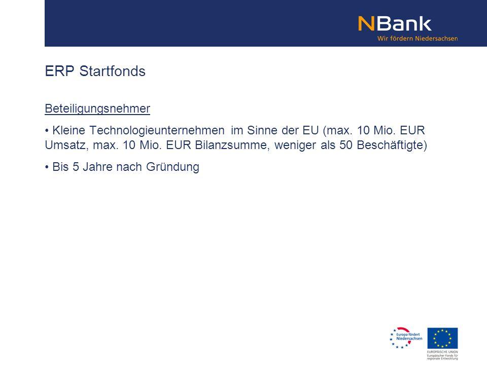 ERP Startfonds Beteiligungsnehmer