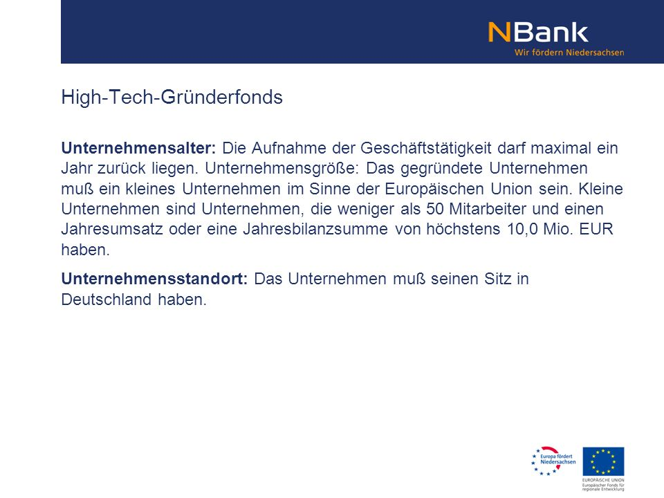 High-Tech-Gründerfonds