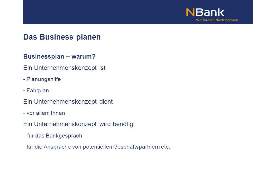 Das Business planen Businessplan – warum Ein Unternehmenskonzept ist