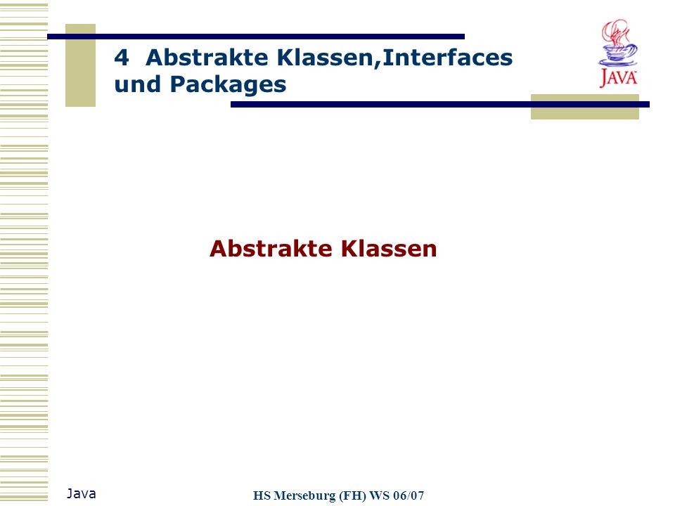 Abstrakte Klassen HS Merseburg (FH) WS 06/07