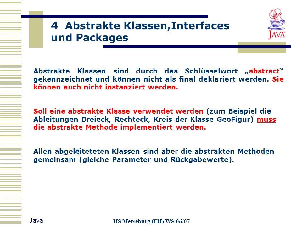 """Abstrakte Klassen sind durch das Schlüsselwort """"abstract gekennzeichnet und können nicht als final deklariert werden. Sie können auch nicht instanziert werden."""