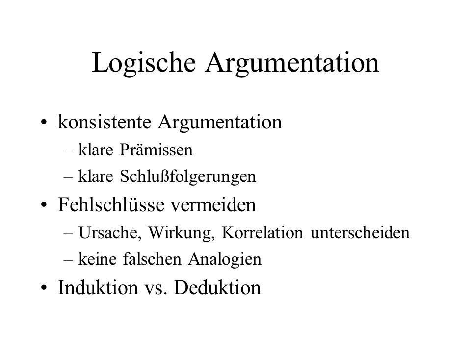Logische Argumentation