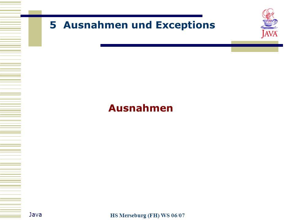Ausnahmen HS Merseburg (FH) WS 06/07