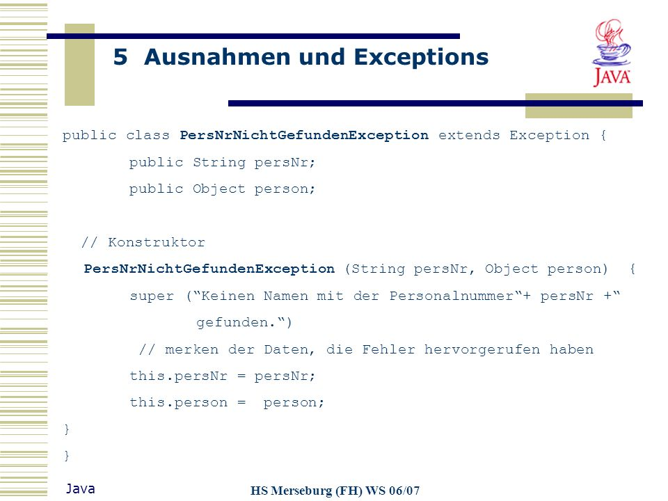 public class PersNrNichtGefundenException extends Exception {