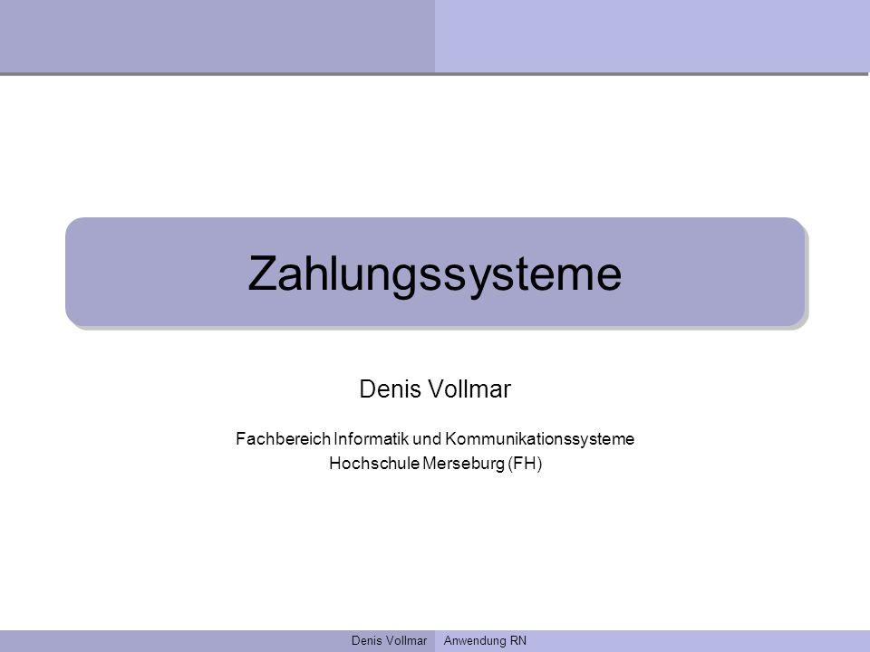 Zahlungssysteme Denis Vollmar