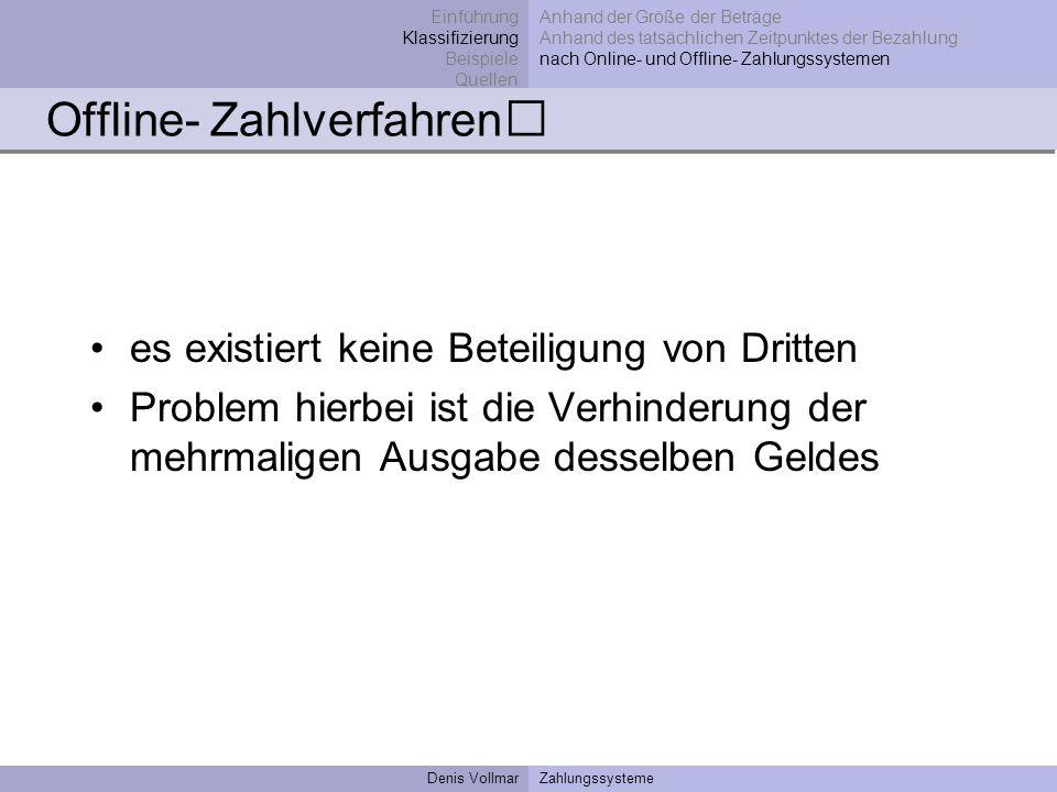 Offline- Zahlverfahren
