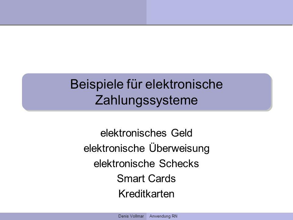 Beispiele für elektronische Zahlungssysteme