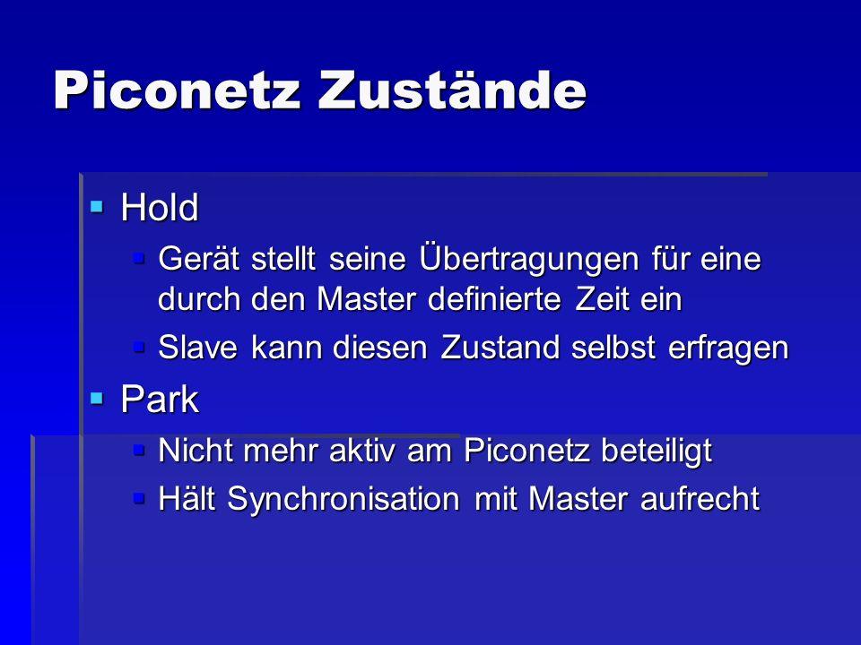 Piconetz Zustände Hold Park