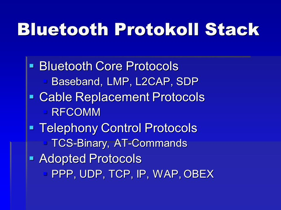 Bluetooth Protokoll Stack