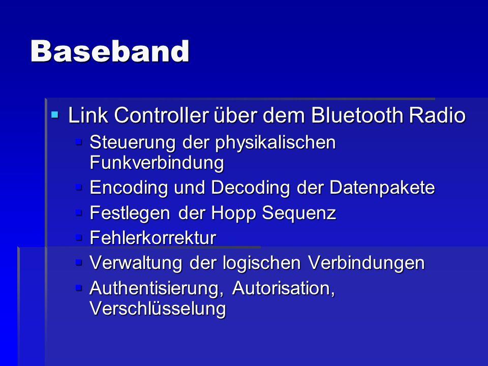 Baseband Link Controller über dem Bluetooth Radio