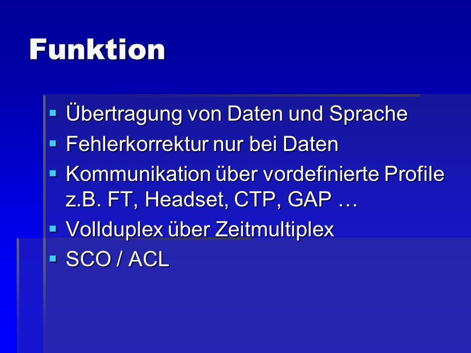 Funktion Übertragung von Daten und Sprache