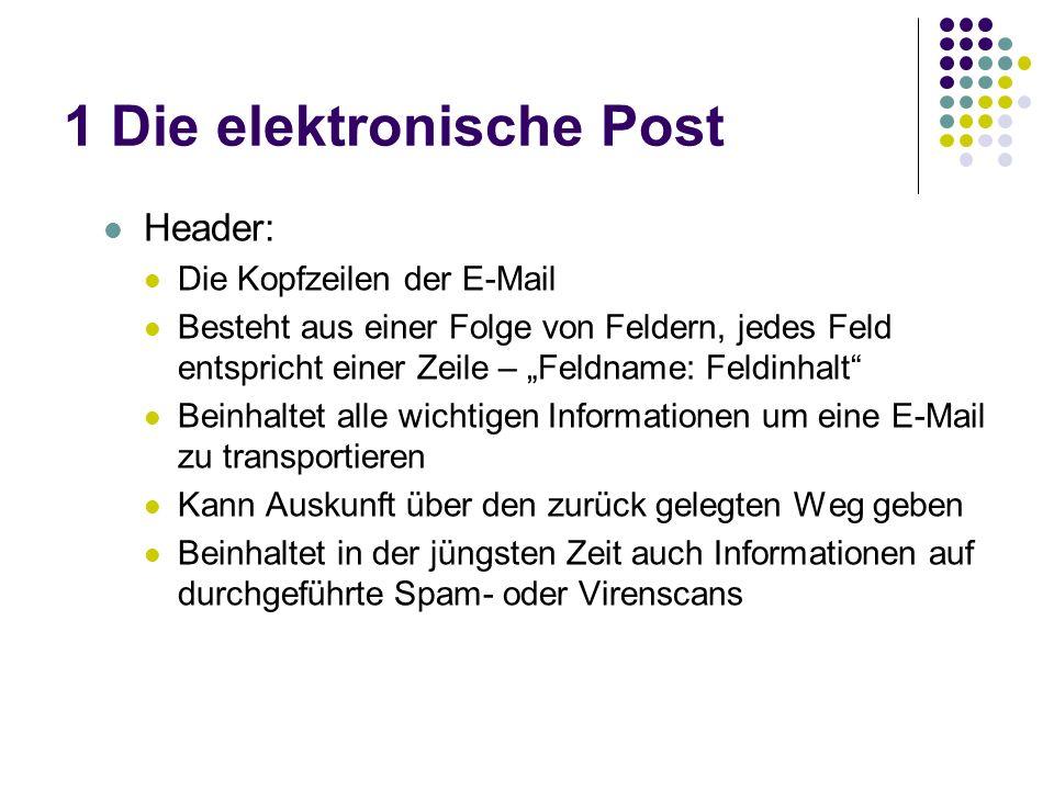 1 Die elektronische Post