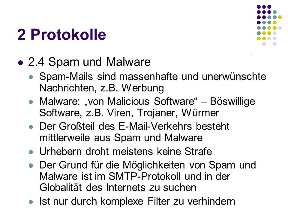 2 Protokolle 2.4 Spam und Malware