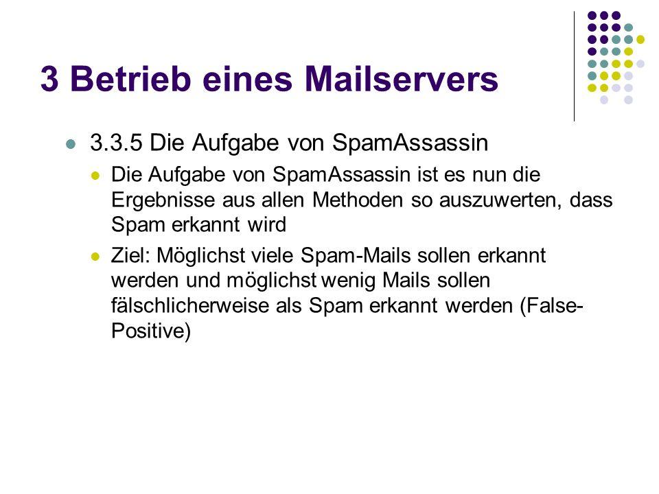3 Betrieb eines Mailservers