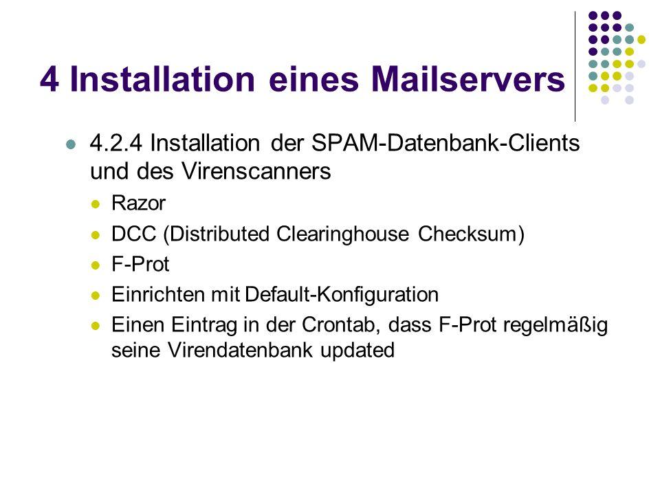 4 Installation eines Mailservers