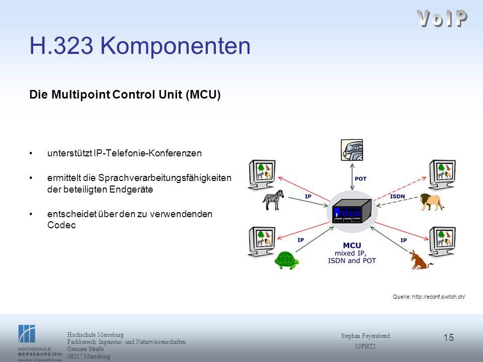 VoIP H.323 Komponenten Die Multipoint Control Unit (MCU)
