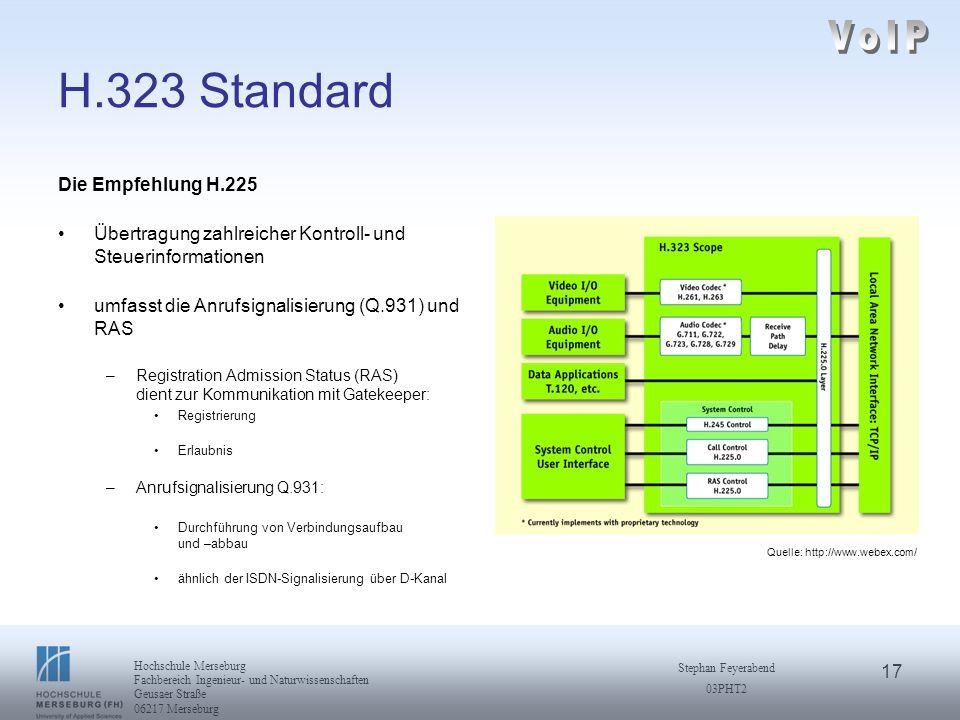 VoIP H.323 Standard Die Empfehlung H.225