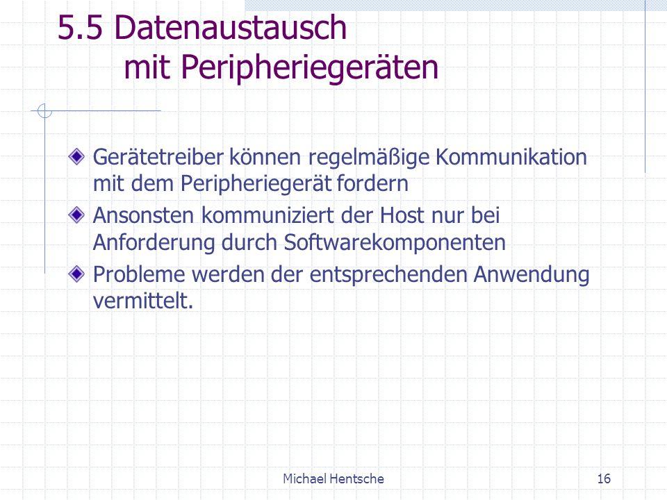 5.5 Datenaustausch mit Peripheriegeräten