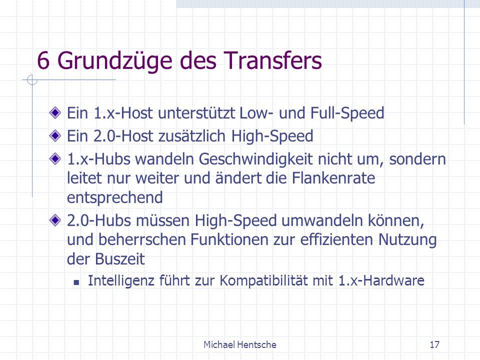 6 Grundzüge des Transfers